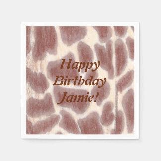 Giraffe Spots Safari Birthday Napkins Paper Serviettes