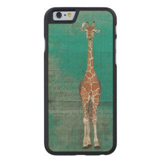 GIRAFFE & WHITE BIRD Carved iPhone Case