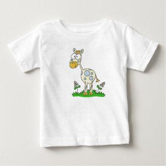 Giraffe with Blue Flowers Infant & Toddler Shirt