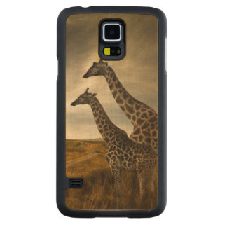 Giraffes and The Landscape Maple Galaxy S5 Slim Case