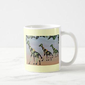 Giraffes Family Habitat Basic White Mug