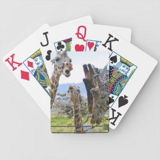 Giraffes Gossiping Playing Cards