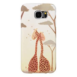 """Giraffes in love art """"Wild Love"""" Samsung Galaxy S6 Cases"""