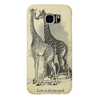 Giraffes Love Samsung Galaxy S6 Cases