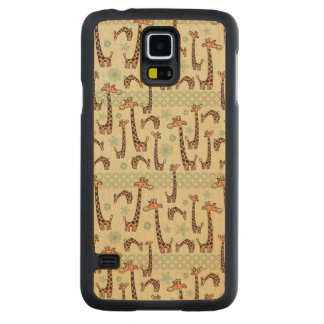 Giraffes Maple Galaxy S5 Slim Case