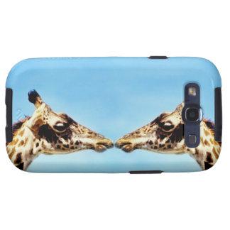 Giraffes touching noses samsung galaxy SIII case