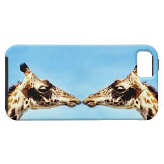 Giraffes touching noses tough iPhone 5 case