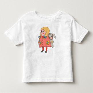 Girl and Bunny. Toddler T-Shirt