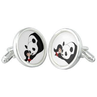 Girl and Panda Cufflinks