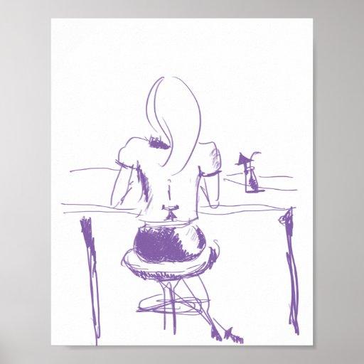 Girl at the bar poster