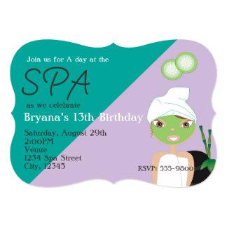 Girl at The Spa Beauty Birthday Party Invitation