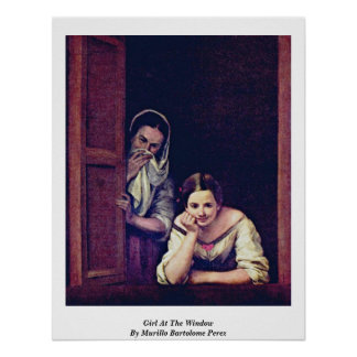 Girl At The Window By Murillo Bartolome Perez Poster