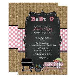 Girl Baby-Q Baby Shower, BBQ baby shower invites