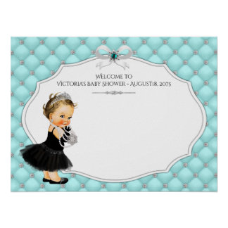 Girl Baby Shower Guest Book Signature Poster
