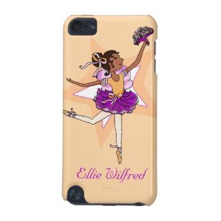 Girl ballerina peach dark hair name ipod case iPod touch 5G cases