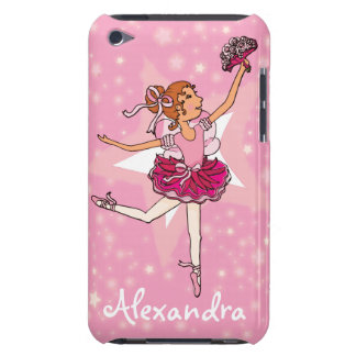 Girl ballerina pink dancer name ipod case iPod touch cover