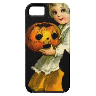 Girl & Black Cat iPhone 5 Cases