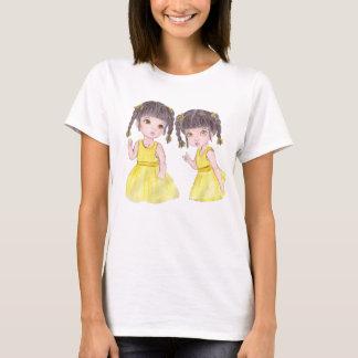 girl, drawing, tender, sweet, twin T-Shirt