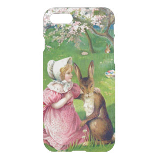 Girl Easter Bunny Colored Eggs Dogwood iPhone 8/7 Case