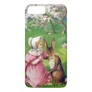 Girl Easter Bunny Colored Eggs Dogwood iPhone 8 Plus/7 Plus Case