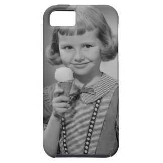 Girl Eating Ice Cream Tough iPhone 5 Case
