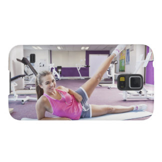 Girl Exercising in Gym Cases For Galaxy S5