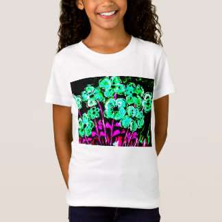 Girl fit Ted Bella Babydoll shirt, flowers T-Shirt