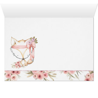 Girl Fox Baby Shower Thank You Cards