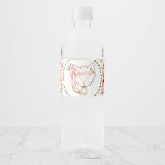 Girl Fox Baby Shower Water Bottle Labels