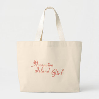Girl from Ascension Island Canvas Bags
