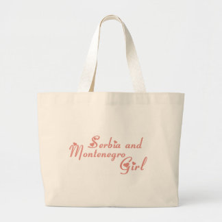 Girl from Serbia and Montenegro Tote Bags