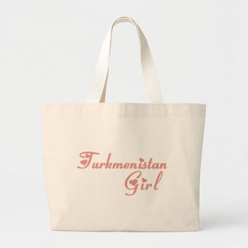 Girl from Turkmenistan Tote Bags