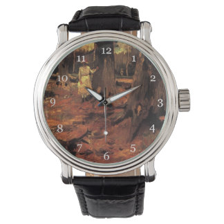 Girl in white in the woods, Vincent van Gogh Wrist Watches
