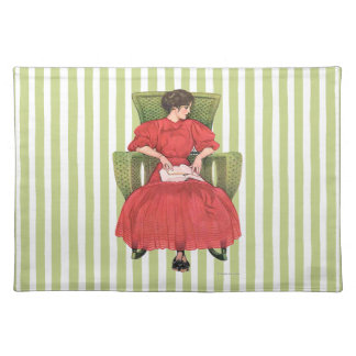 Girl in Wicker Chair Placemat