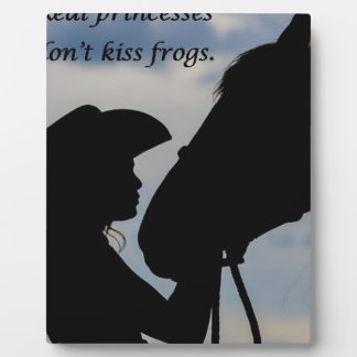 Girl Kissing Horse Plaque