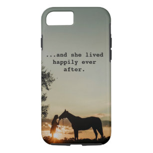 Girl Kissing Horse She Lived Happily Ever After Case-Mate iPhone Case