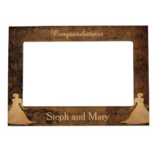 Girl Meets Girl Lesbian Wedding Gift Frame