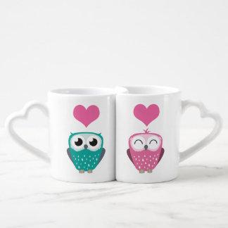 Girl Owl & Boy Owl in Love Lovers Mug Set