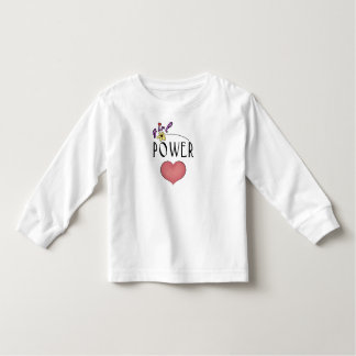 Girl Power Heart Fun Toddler LS Tee Shirt