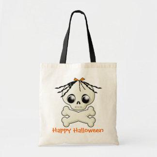 Girl Skull Halloween Treat Bag