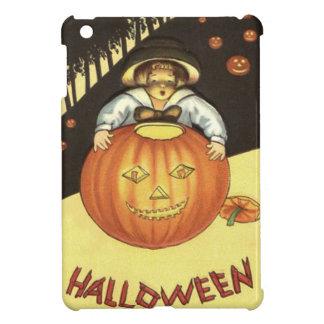 Girl Smiling Jack O' Lantern Pumpkin Cover For The iPad Mini