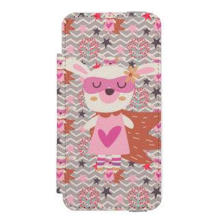 Girl Superhero Bunny Incipio Watson™ iPhone 5 Wallet Case
