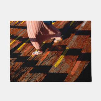 Girl Walking on Stairs Doormat