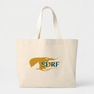 Girl Watching Waves Artwork Tote Bag