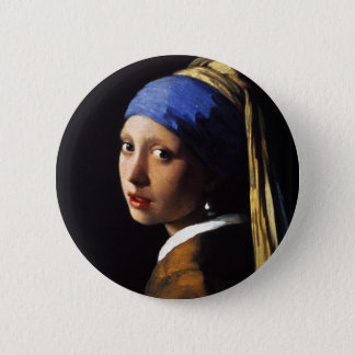 Girl with a Pearl Earring 6 Cm Round Badge