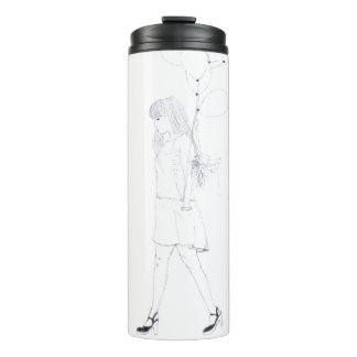 Girl with Balloons thermal tumbler