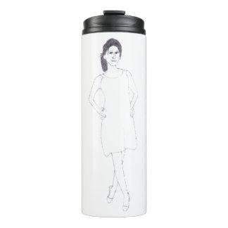 Girl with Plain Dress thermal tumbler