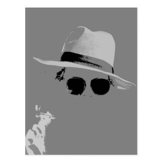 GIrl With The Hat & Shades Postcard