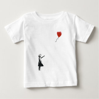 Girl with the heart shaped balloon baby T-Shirt