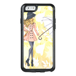 Girl With Umbrella Against Yellow Autumn Leaves OtterBox iPhone 6/6s Case